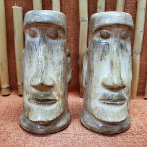 Skipper Kent's Moai Salt & Pepper Shakers Light Brown - 193783